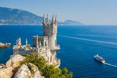Il nido dello Swallow ben noto del castello vicino a Yalta Fotografia Stock Libera da Diritti