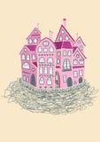 Il nido di amore è il piano in distretto romantico Fotografia Stock Libera da Diritti