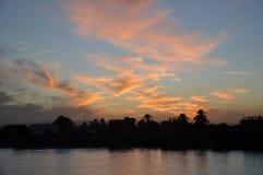 Il Nilo al tramonto, Egitto Fotografia Stock Libera da Diritti