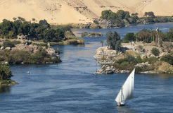 Il Nilo a Aswan Immagine Stock Libera da Diritti