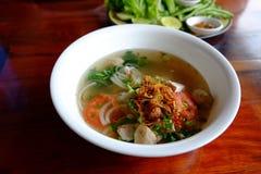 Il nome della tagliatella del Laos è Fer Immagini Stock