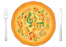 Il nostro alimento è music3 Immagine Stock