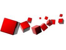 Il nostro cubo 3D da funzionare Fotografie Stock