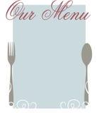 Il nostro menu Immagini Stock
