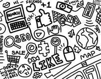 Il nostro mondo di Internet scarabocchia Art Drawing Fotografie Stock