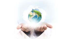 Il nostro pianeta in nostre mani Immagine Stock
