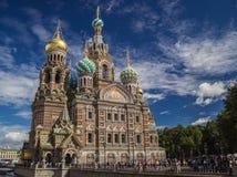 Il nostro salvatore su sangue rovesciato, St Petersburg Fotografia Stock Libera da Diritti
