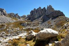 Il NP Durmitor, rocce Fotografie Stock Libere da Diritti