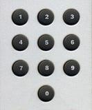 il numero abbottona la tastiera Fotografie Stock