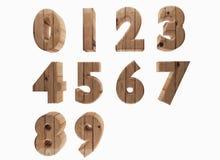 Il numero di legno in 3D rende l'immagine Immagine Stock