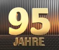 Il numero dorato novantacinque numera 95 e la parola Fotografie Stock Libere da Diritti