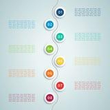Il numero fa un passo Infographic 5 Fotografie Stock
