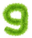 Il numero nove ha fatto di erba verde Fotografia Stock Libera da Diritti