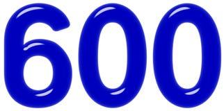 Il numero 600, seicento, isolati su fondo bianco, 3d rende royalty illustrazione gratis