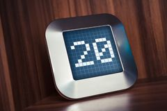Il numero 20 su un calendario, su un termostato o su un temporizzatore di Digital Fotografie Stock Libere da Diritti