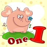 Il numero uno con un'illustrazione royalty illustrazione gratis