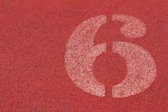Il numero usato per gli atleti Immagine Stock Libera da Diritti
