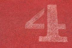 Il numero usato per gli atleti Fotografia Stock Libera da Diritti