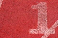Il numero usato per gli atleti Fotografie Stock Libere da Diritti