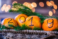Il nuovo anno 2019 è concetto venente Fotografia Stock Libera da Diritti