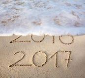 Il nuovo anno 2017 è concetto venente Fotografia Stock
