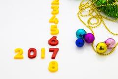 Il nuovo anno 2017 è concetto venente Il buon anno 2017 sostituisce 201 Fotografia Stock