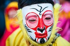 Il nuovo anno cinese - maschera della scimmia - sfoggia a Parigi Fotografia Stock Libera da Diritti