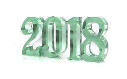 Il nuovo anno 3D calcola il vetro Immagine Stock