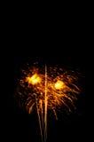 il nuovo anno dei fuochi d'artificio celebra - il bello isolante variopinto del fuoco d'artificio Fotografie Stock Libere da Diritti