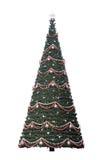 Il nuovo anno di natale ha decorato spruce Fotografia Stock Libera da Diritti
