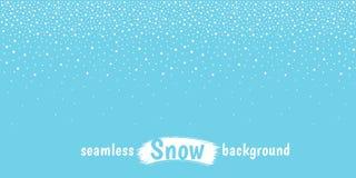 Il nuovo anno, neve orizzontale di Natale, fiocchi di neve punteggia il confine Fotografie Stock