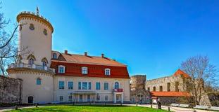 Il nuovo castello, Cesis, Lettonia fotografie stock libere da diritti