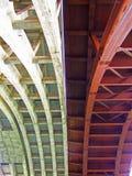Il nuovo e vecchio ` Adda del sull di Trezzo del ponte Fotografia Stock