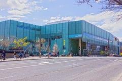 Il nuovo gran Bibliothèque di Montreal. Immagine Stock Libera da Diritti