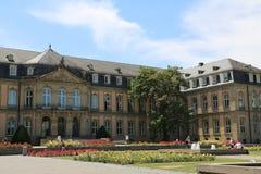 Il nuovo palazzo dal lato di Oberer Schlossgarten, Stuttgart Immagini Stock Libere da Diritti