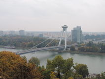 Il nuovo ponte di Bratislava Fotografie Stock