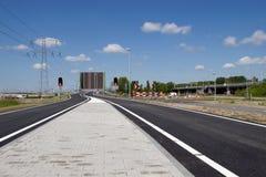 Il nuovo ponte stradale quel presto il nuovo A1 con il A9 da collegarsi Fotografia Stock Libera da Diritti