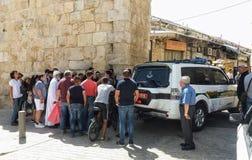 Il nuovo portone bocked dopo l'attacco a Temple Mount Immagini Stock