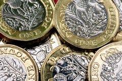 Il nuovo Regno Unito una valuta della moneta di libbra Fotografia Stock Libera da Diritti