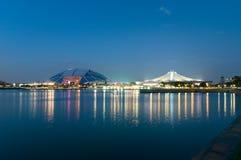 Il nuovo stadio nazionale di Singapore Fotografie Stock Libere da Diritti