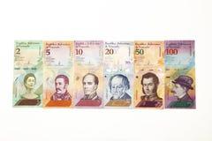 Il nuovo venezuelan di valuta fattura l'icona immagine stock libera da diritti
