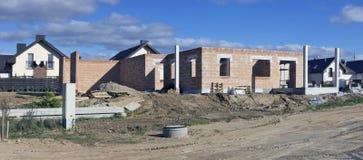 Il nuovo villaggio si dirige la costruzione Immagine Stock