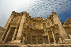 Il Nymphaeum in Jerash fotografia stock libera da diritti
