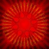 Il OM spiritoso sulla mandala Fotografia Stock Libera da Diritti