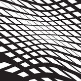 Il opart ottico di arte ha barrato il nero ondulato a delle onde dell'estratto del fondo Immagine Stock