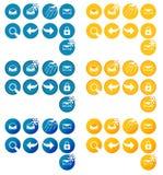 Il pacchetto del sito Web ha orientato i bottoni fotografie stock libere da diritti