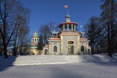 Il padiglione cinese ed il villaggio cinese Pushkin (Tsarskoye Selo) La Russia immagini stock libere da diritti