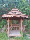 Il padiglione di legno è bello Nord della Tailandia immagine stock
