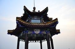 Il padiglione di osservazione della montagna di Yunlong alla vetta di Yunlong in Xuzhou Cina fotografia stock