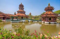 Il padiglione di Phra Kaew, città antica, Samut Prakan, Tailandia fotografie stock libere da diritti